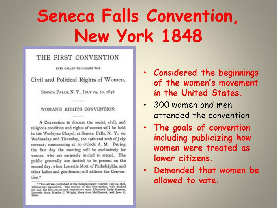 Seneca Falls Convention, New York 1848