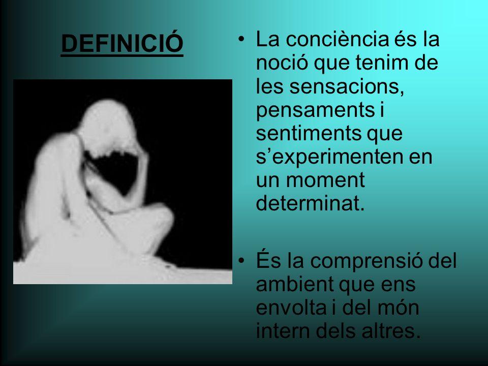 La conciència és la noció que tenim de les sensacions, pensaments i sentiments que s'experimenten en un moment determinat.