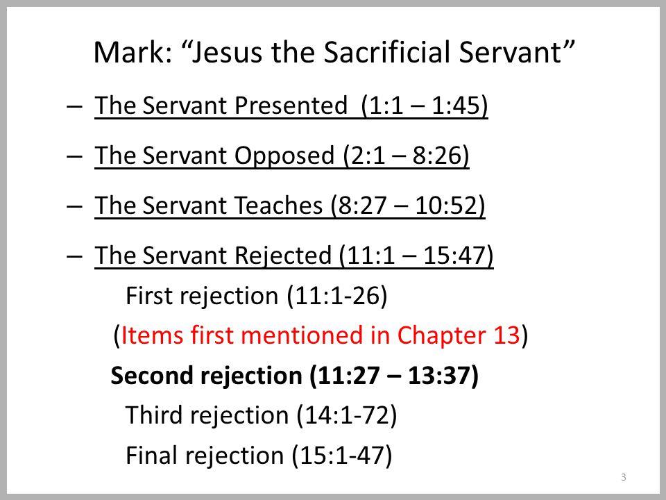 The Olivet Discourse Matthew 24:1-44Mark 13:1-37Luke 21:5-36 The occasion (vv.