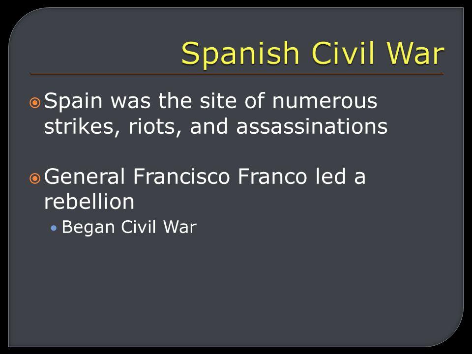 WWII Francisco Franco