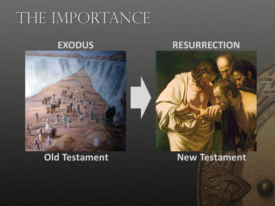 The Importance Old TestamentNew Testament EXODUSRESURRECTION