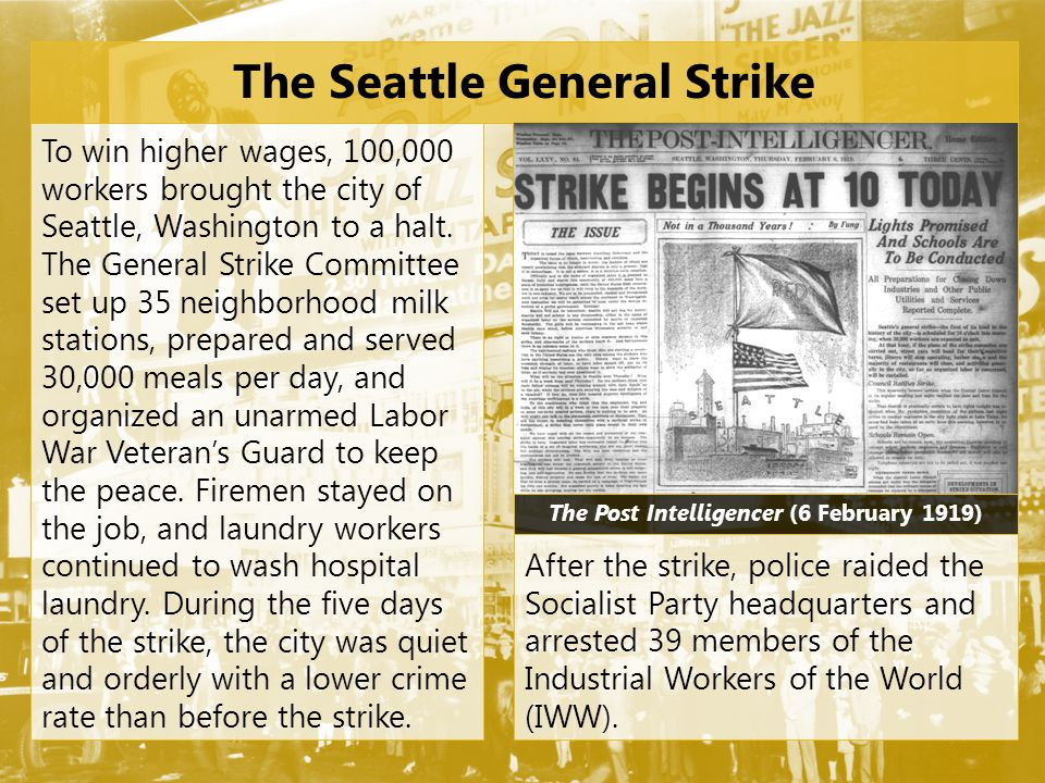 The so-called sympathetic Seattle strike was an attempted revolution.