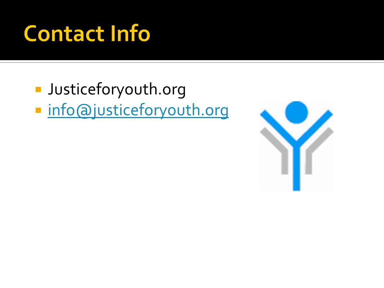  Justiceforyouth.org  info@justiceforyouth.org info@justiceforyouth.org