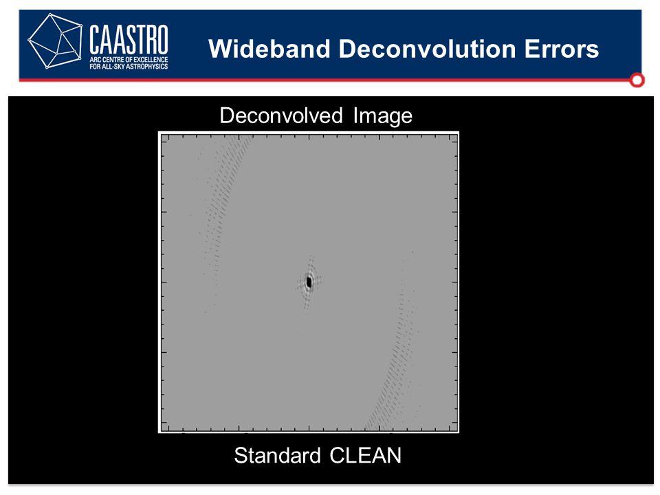 Wideband Deconvolution Errors Deconvolved Image Standard CLEAN