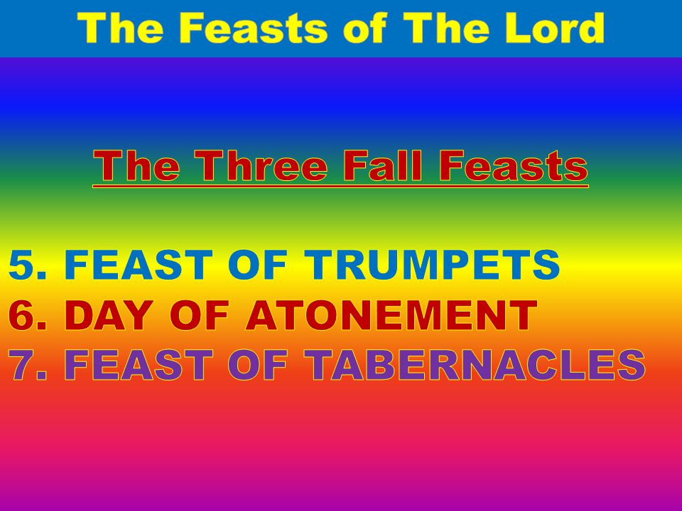 FEAST OF TRUMPETS Yom Teruah-means the day of the Awaking blast of the shofar, the rams horn.