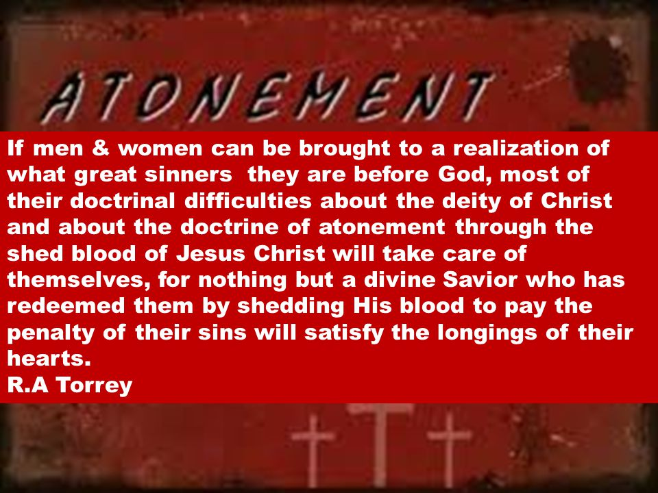 In the Old Testament Atonement never took away sin it only covered it.