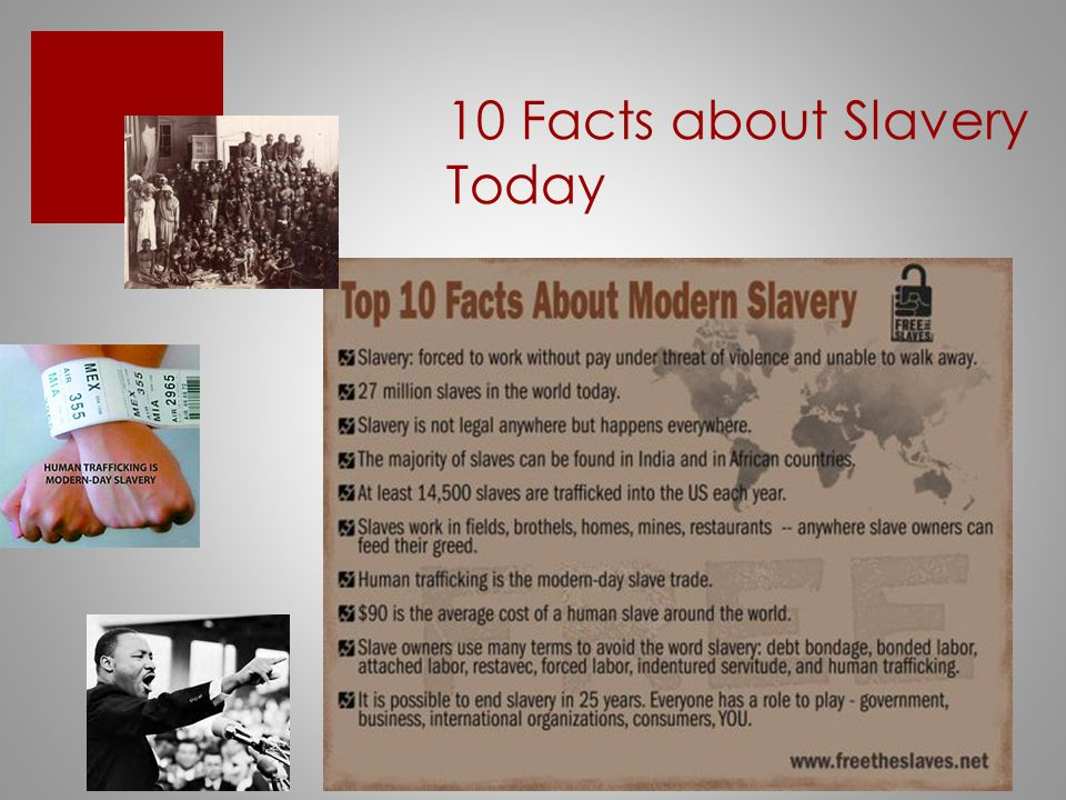 10 Facts about Slavery Today