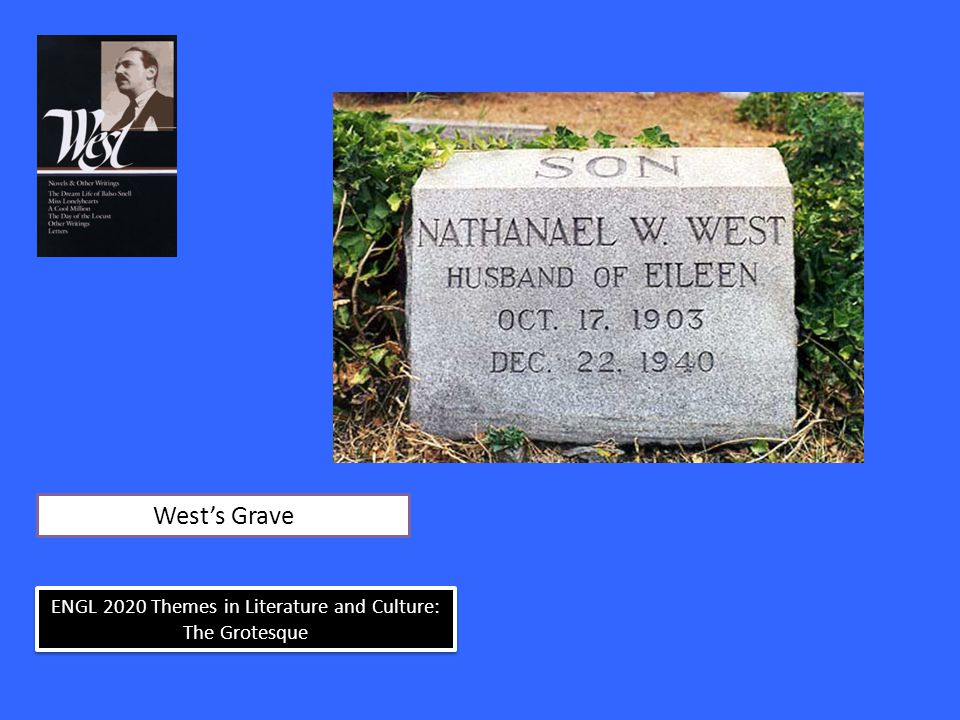 ENGL 2020 Themes in Literature and Culture: The Grotesque West's Grave