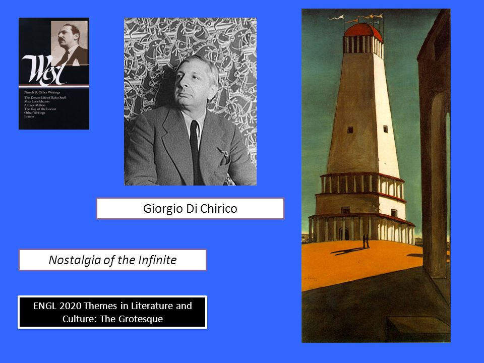 ENGL 2020 Themes in Literature and Culture: The Grotesque Nostalgia of the Infinite Giorgio Di Chirico