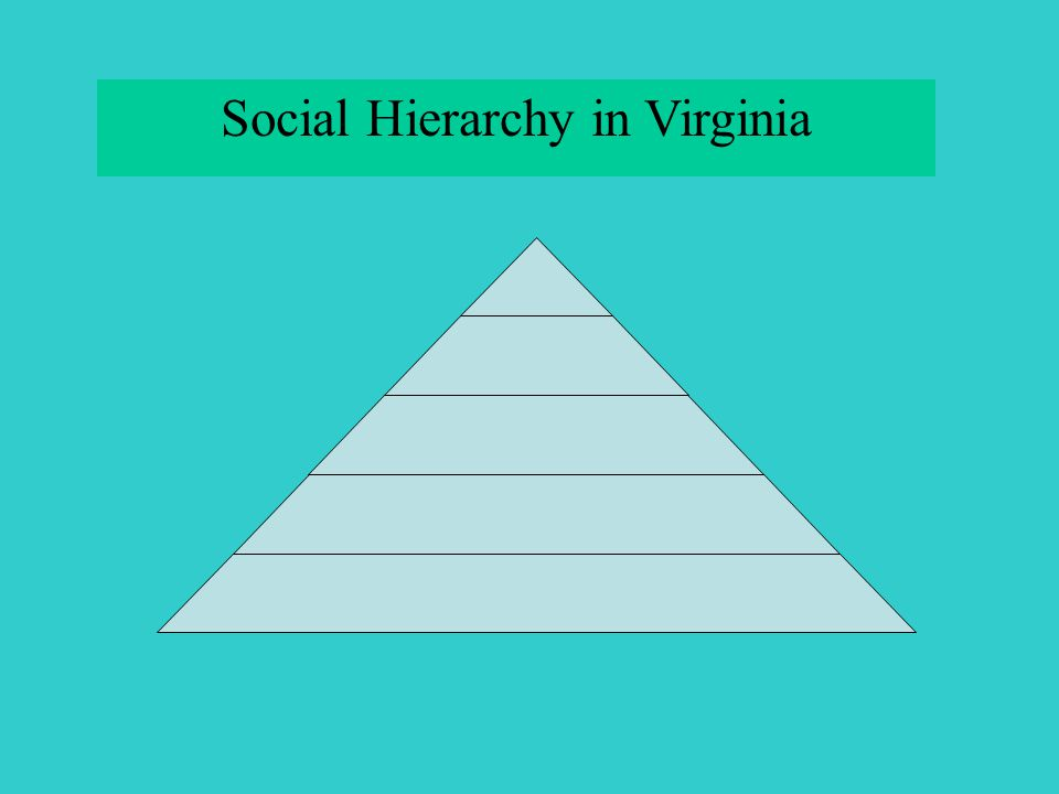Social Hierarchy in Virginia