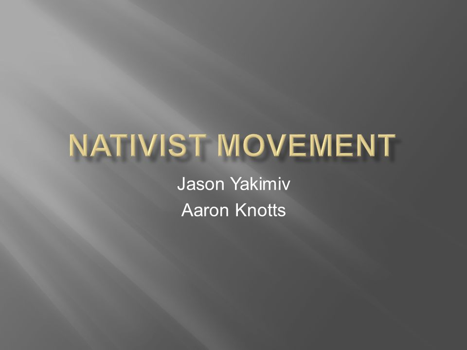 Jason Yakimiv Aaron Knotts