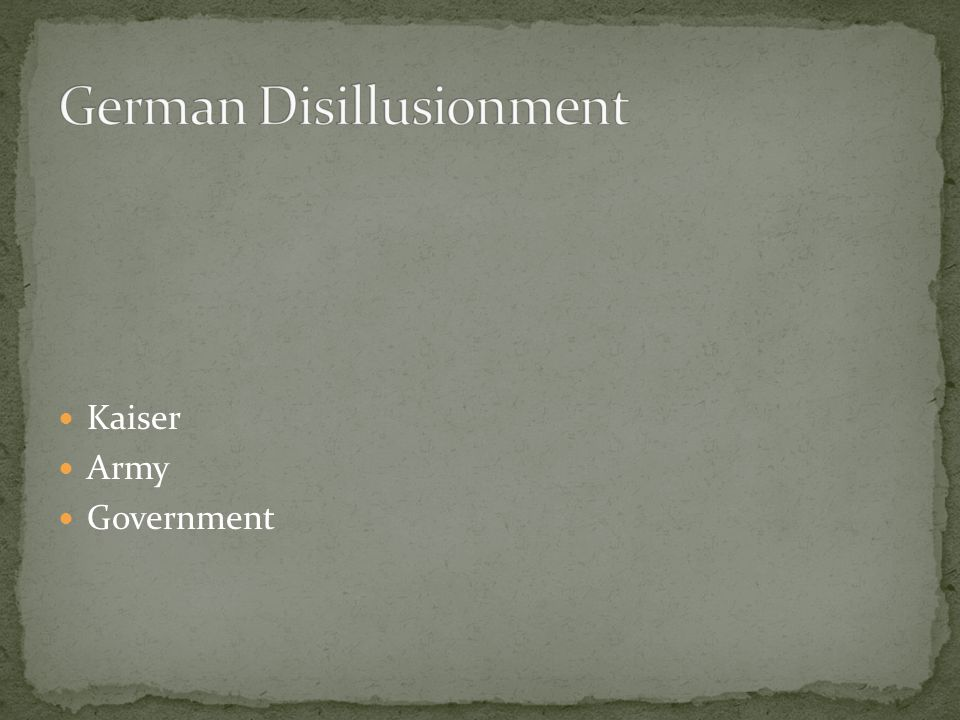 Kaiser Army Government