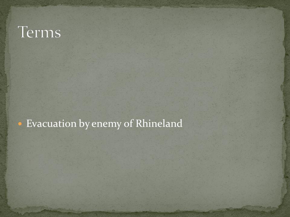 Evacuation by enemy of Rhineland