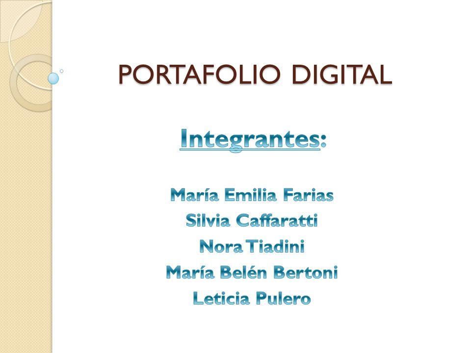 PORTAFOLIO DIGITAL PORTAFOLIO DIGITAL