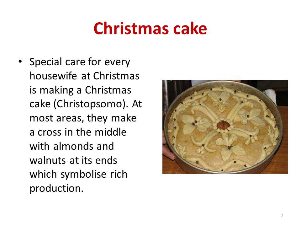 Christmas cake Special care for every housewife at Christmas is making a Christmas cake (Christopsomo).