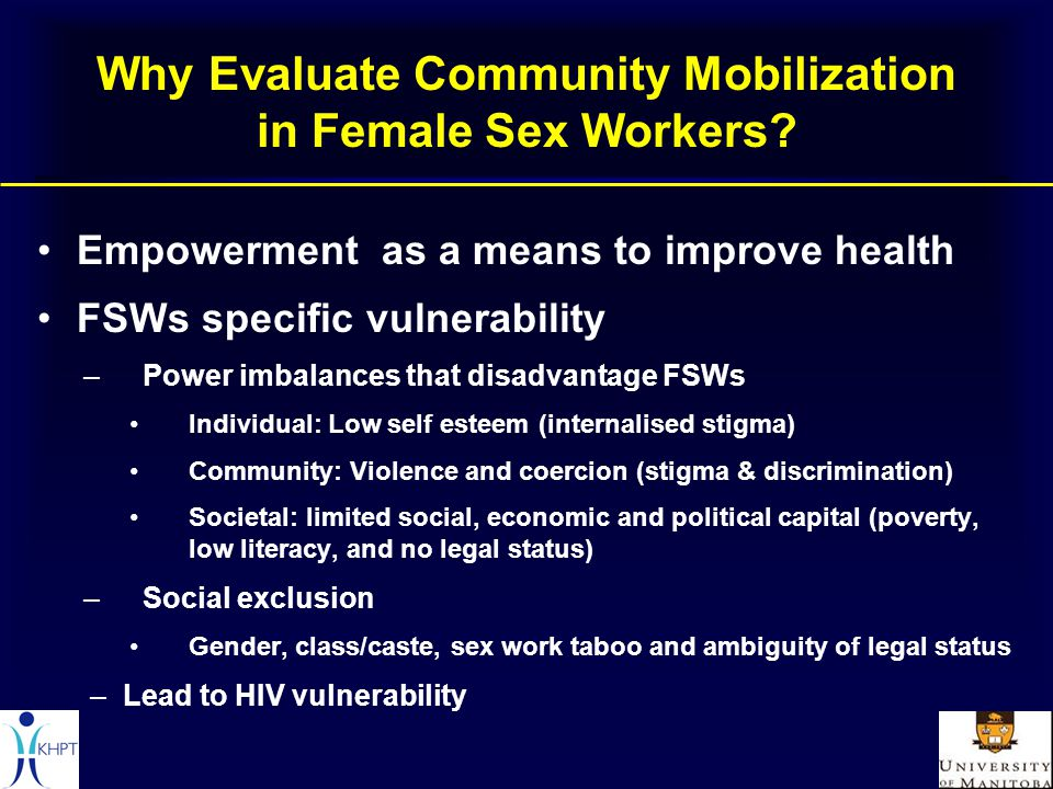 Why Evaluate Community Mobilization in Female Sex Workers.