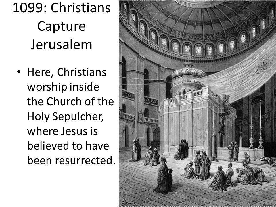 Here, Christians worship inside the Church of the Holy Sepulcher, where Jesus is believed to have been resurrected.