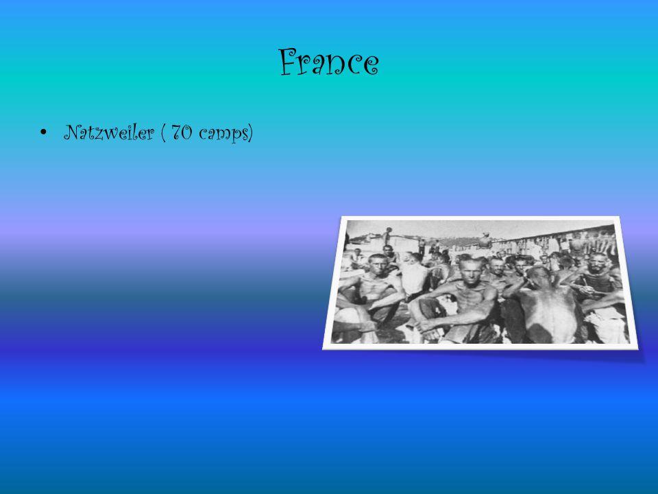 France Natzweiler ( 70 camps)