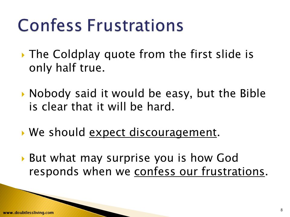  The Coldplay quote from the first slide is only half true.