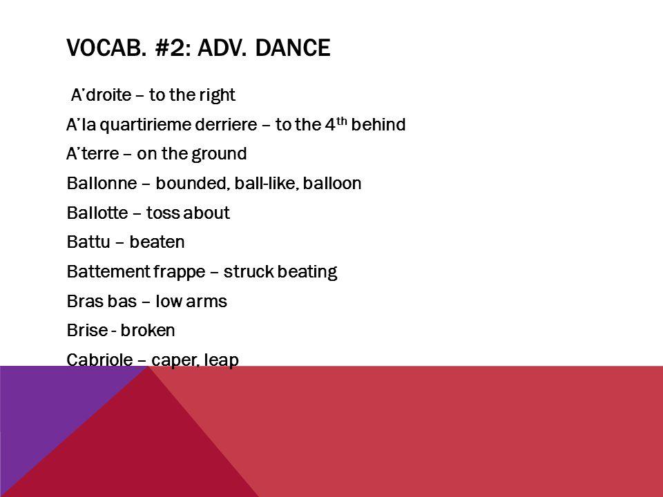 VOCAB. #2: ADV.
