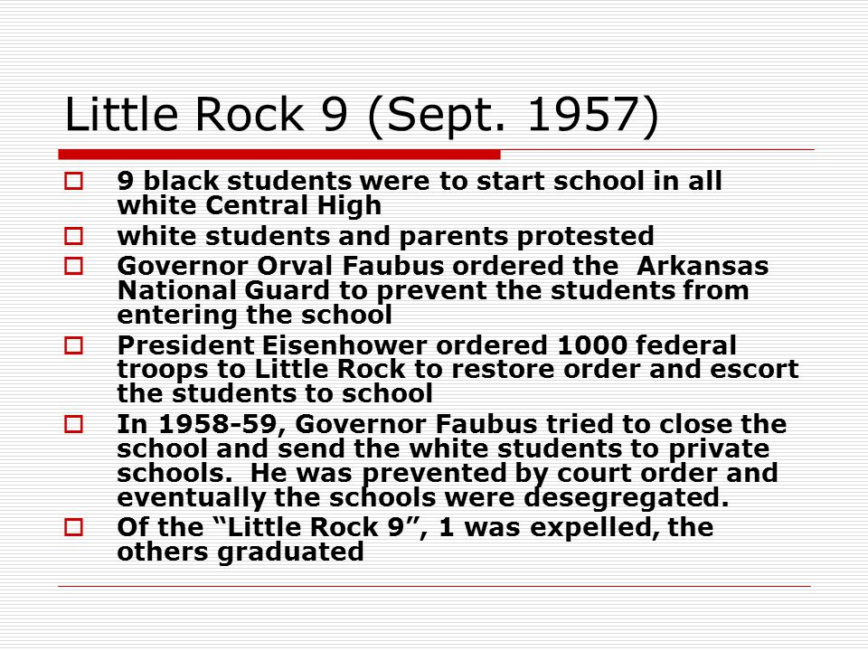 Little Rock 9 (Sept.