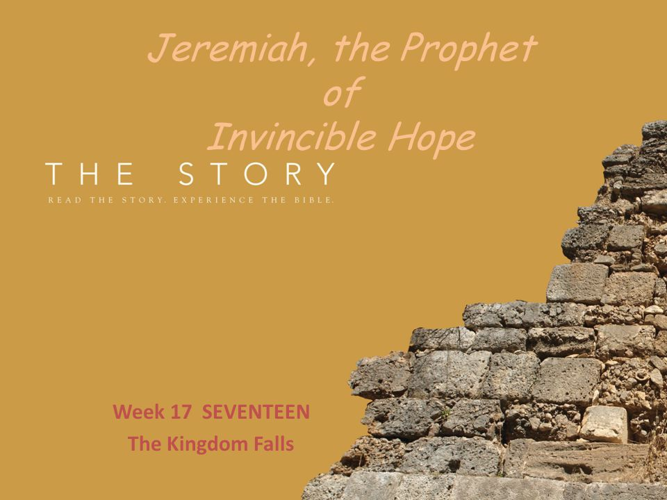Jeremiah, the Prophet of Invincible Hope Worshipping the God of Repentance Jeremiah saw God always wanting to forgive.