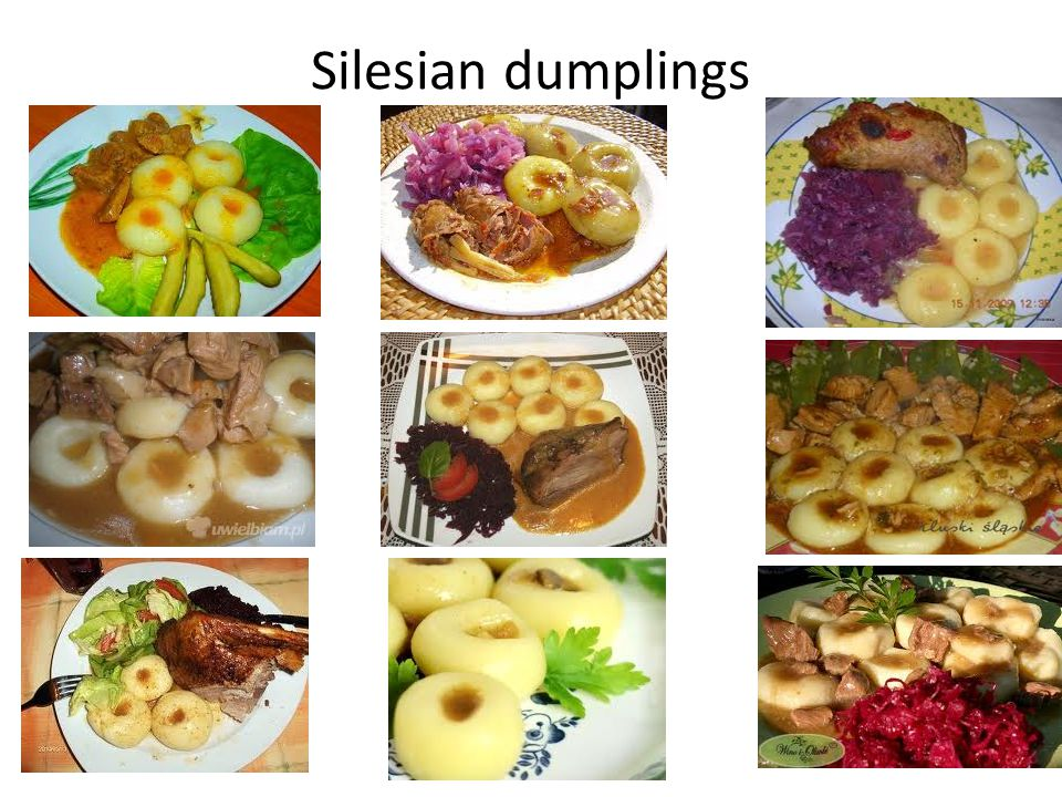 RECIPE for Silesian dumplings This recipe for potato dumplings, known as kluski slaskie is from Silesia, a region in Poland.