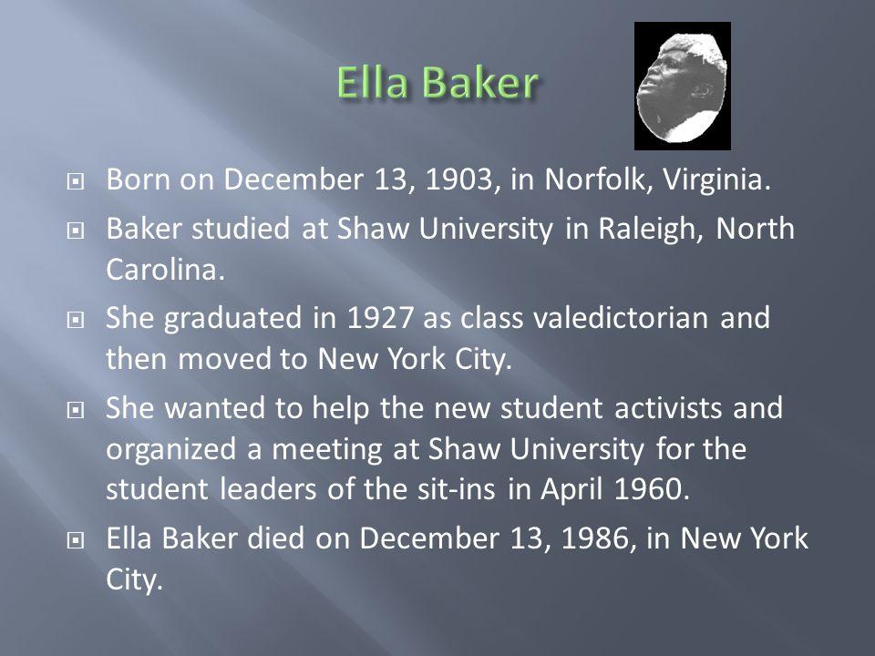  Born on December 13, 1903, in Norfolk, Virginia.