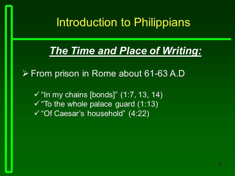 15 Philippians THE GOSPEL IN THE CHURCH