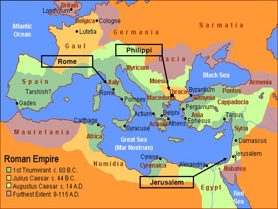 9 Rome Philippi Jerusalem.