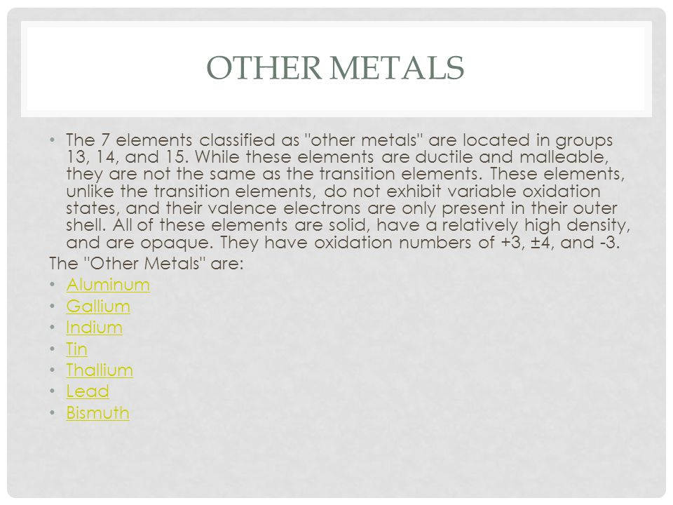 NON-METALS Non-metals are the elements in groups 14-16 of the periodic table.