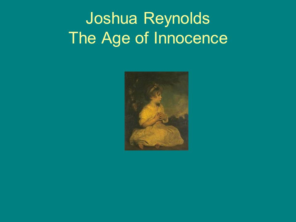 Joshua Reynolds The Age of Innocence
