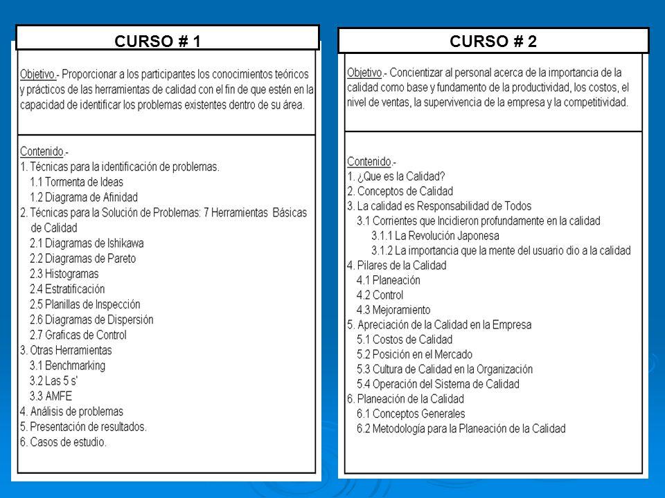 CURSO # 1 CURSO # 2