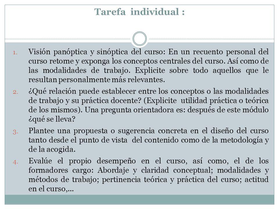 Tarefa individual : 1.