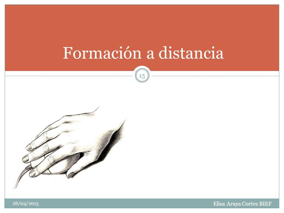 Elisa Araya Cortez BIEF 28/04/2015 15 Formación a distancia