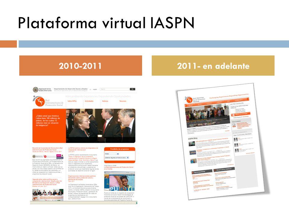 2010-20112011- en adelante Plataforma virtual IASPN