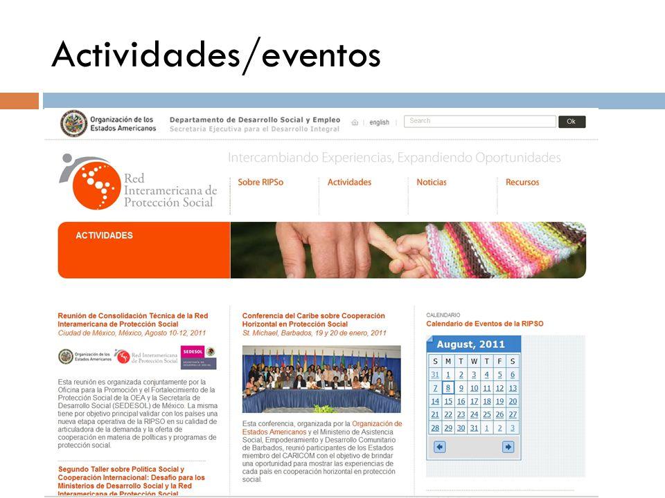 Actividades/eventos