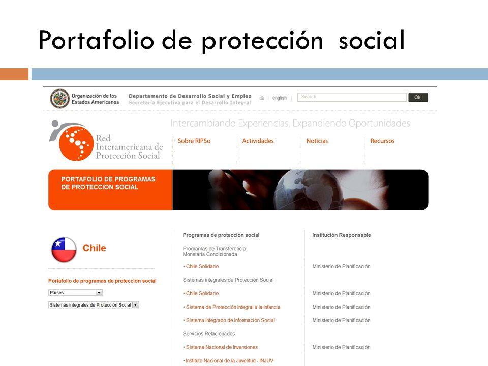 Portafolio de protección social