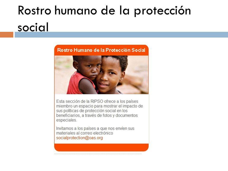 Rostro humano de la protección social