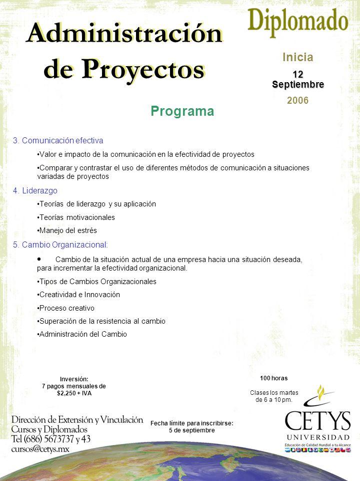 Administración de Proyectos 3.