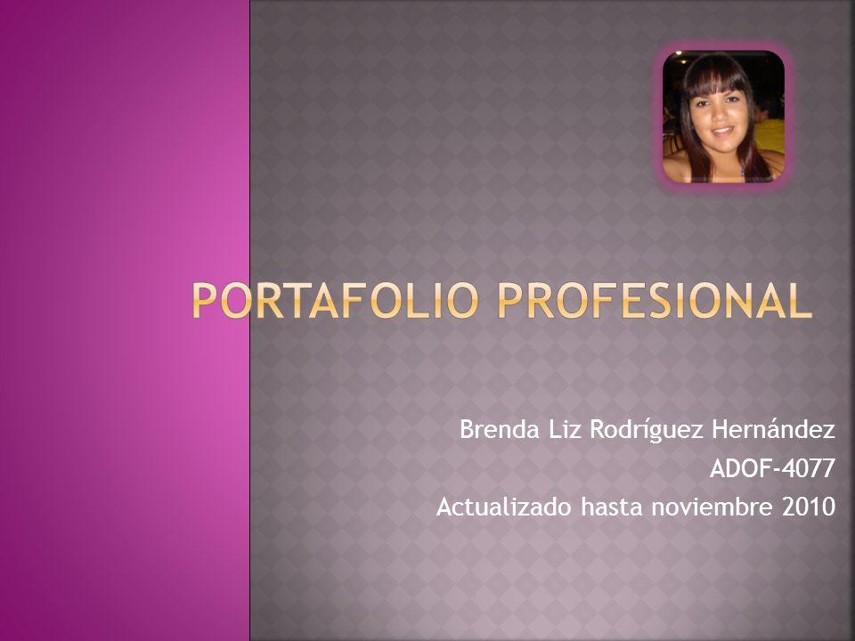 Brenda Liz Rodríguez Hernández ADOF-4077 Actualizado hasta noviembre 2010