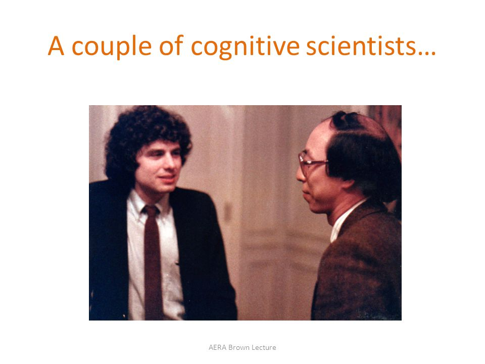 A couple of cognitive scientists…