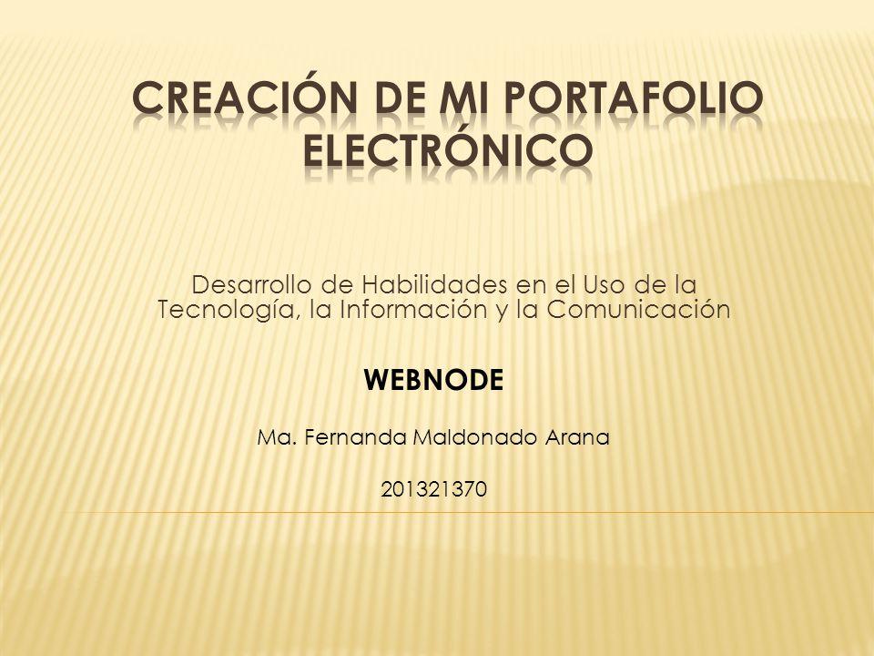 Desarrollo de Habilidades en el Uso de la Tecnología, la Información y la Comunicación WEBNODE Ma.