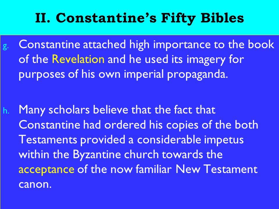 15 II.Constantine's Fifty Bibles g.