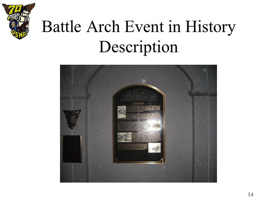 14 Battle Arch Event in History Description