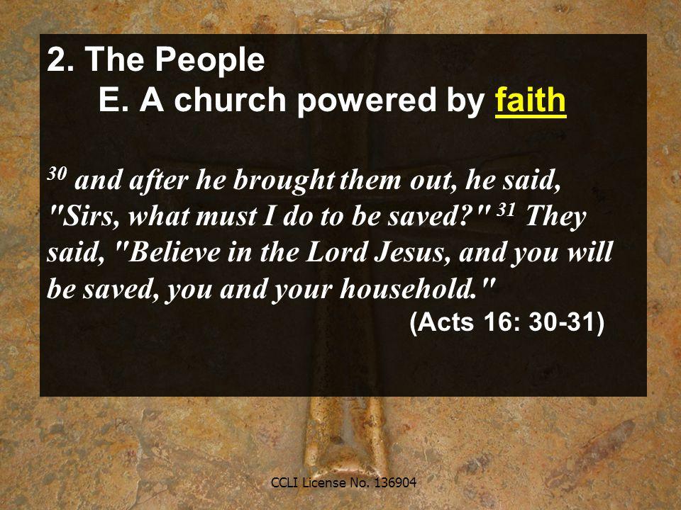 CCLI License No. 136904 2. The People E.