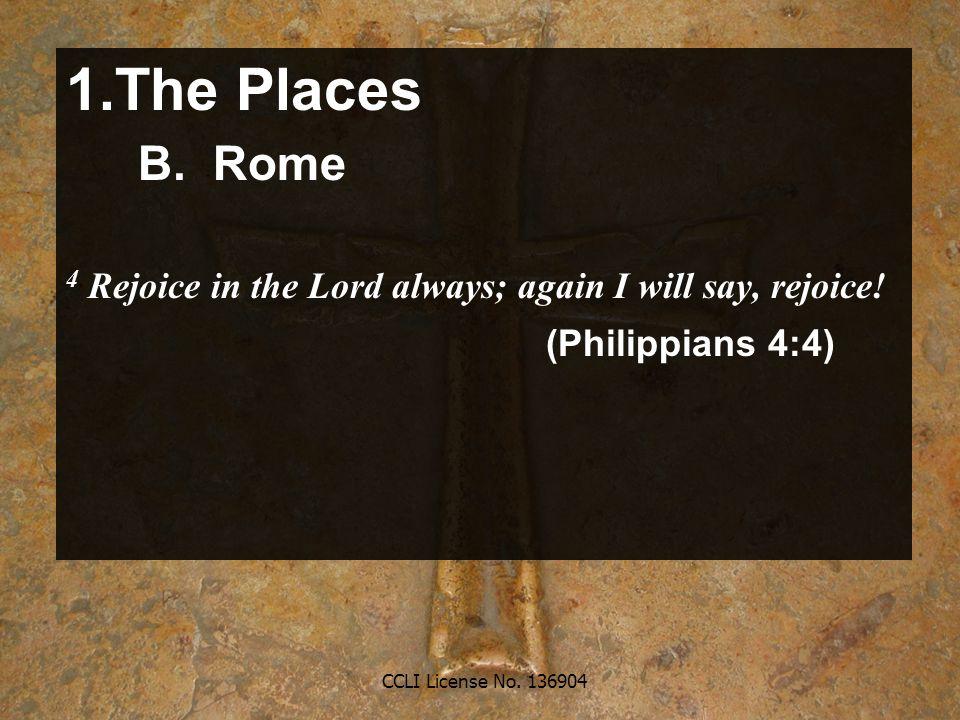CCLI License No. 136904 1.The Places B.