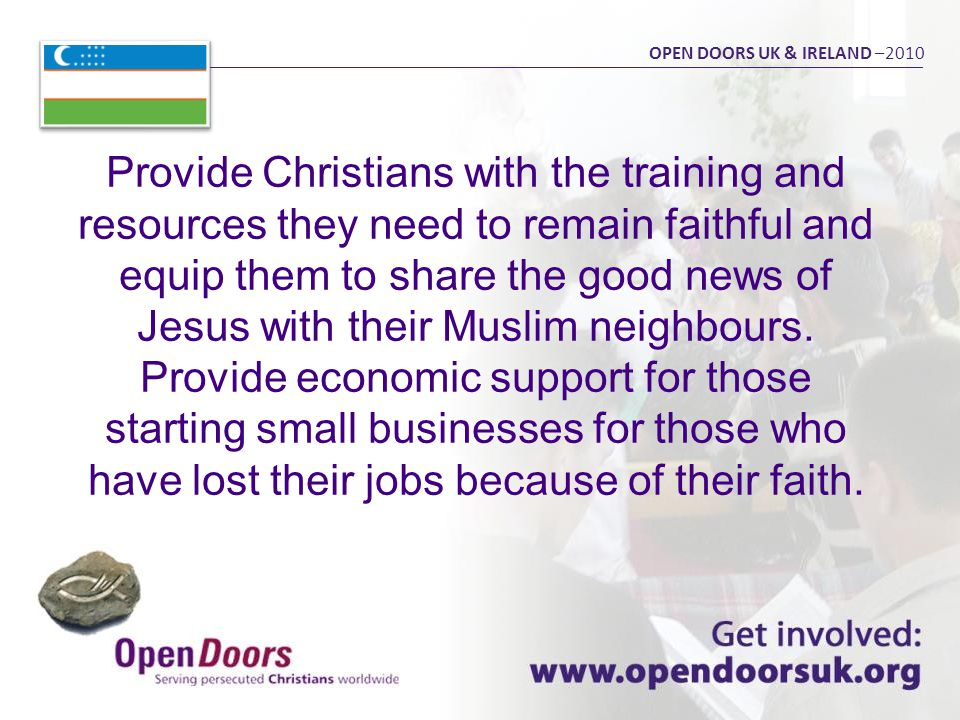 Provide Christians with the training and resources they need to remain faithful and equip them to share the good news of Jesus with their Muslim neighbours.