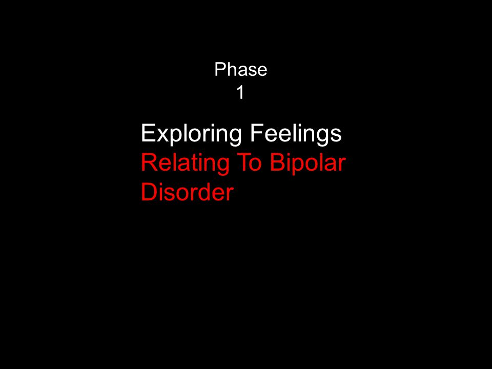 Phase 1 Exploring Feelings Relating To Bipolar Disorder