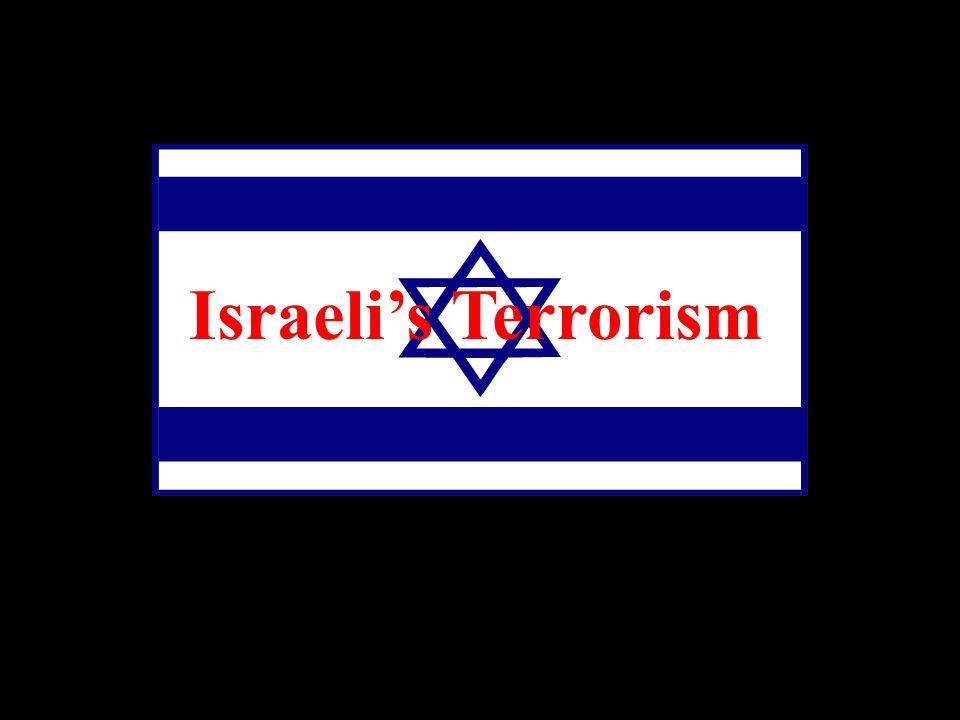 Israeli's Terrorism